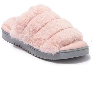 Pink Slipper Slides Wynter Faux Fur Slip On Abound